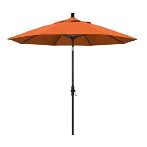 9 Foot Umbrella Aluminum Market Collar Tilt - Matted Black/Pacifica/Tuscan