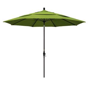 11 Foot Fiberglass Market Umbrella Collar Tilt Double Vent Bronze/Sunbrella/Macaw