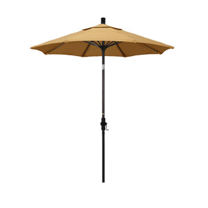 7.5 Foot Umbrella Fiberglass Market Collar Tilt - Bronze/Sunbrella/Wheat
