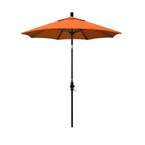 7.5 Foot Umbrella Fiberglass Market Collar Tilt - Bronze/Sunbrella/Tuscan