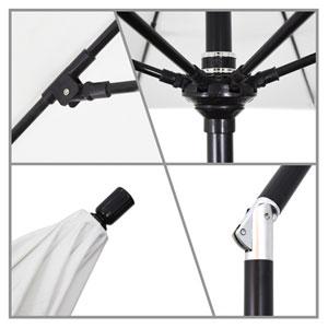 9 Foot Umbrella Fiberglass Market Collar Tilt - Matted Black/Sunbrella/Canvas