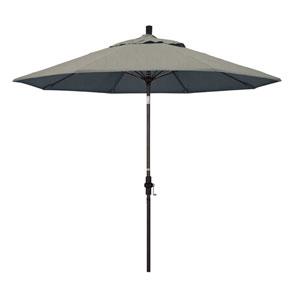 9 Foot Fiberglass Market Umbrella Collar Tilt Bronze/Sunbrella/Dove