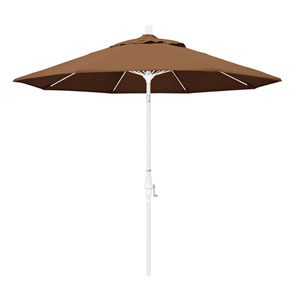 9 Fiberglass Market Umbrella Collar Tilt M White/Sunbrella/Canvas Teak