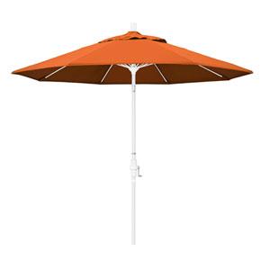 9 Foot Umbrella Fiberglass Market Collar Tilt - Matted White/Pacifica/Tuscan