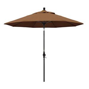 9 Fiberglass Market Umbrella Collar Tilt Black/Sunbrella/Canvas Teak