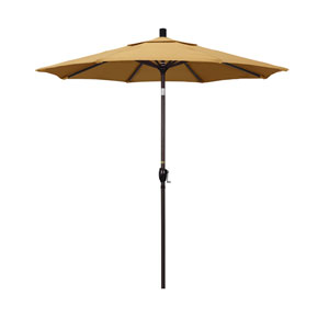 7.5 Foot Umbrella Aluminum Market Push Tilt - Bronze/Sunbrella/Wheat