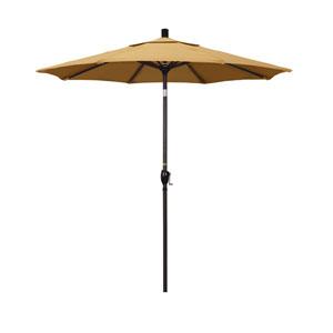 7.5 Foot Umbrella Aluminum Market Push Tilt - Bronze/Sunbrella/Wheat
