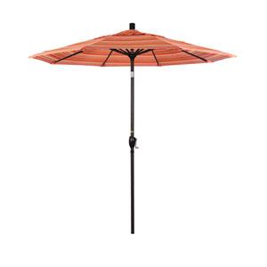 7.5 Foot Aluminum Market Umbrella Push Tilt Bronze/Sunbrella/Dolce Mango