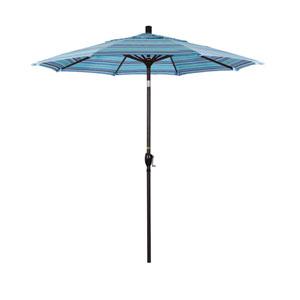 7.5 Foot Aluminum Market Umbrella Push Tilt Bronze/Sunbrella/Dolce Oasis