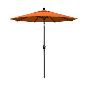 7.5 Foot Umbrella Aluminum Market Push Tilt - Matted Black/Sunbrella/Tuscan