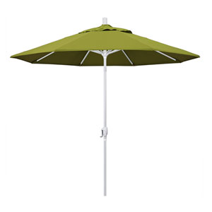 9 Foot Aluminum Market Umbrella Push Tilt Matte White/Pacifica/Ginkgo