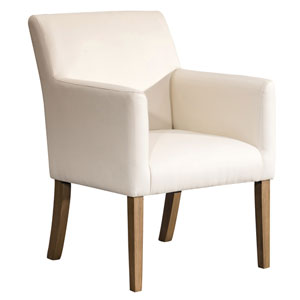 Dining Chair - Cream Faux Leather