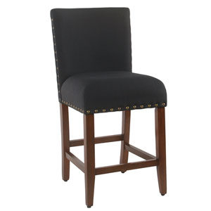 24 Inch Counter stool with Nailheads - Deep Navy