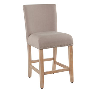 24 Inch Counter stool with Nailheads - Tan