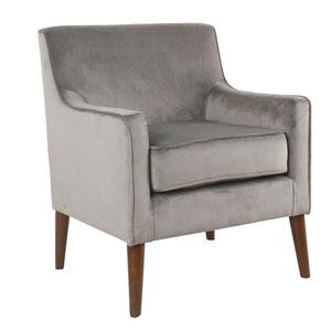 Mid-Century Velvet Accent Chair - Gray
