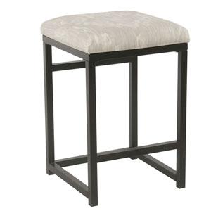 Backless Metal Counter Stool - Gray Ikat