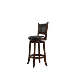Abbey Black Faux Leather Barstool