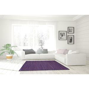 Matador Purple Leather Flat Weave Rectangular: 9 Ft. x 12 Ft. Rug