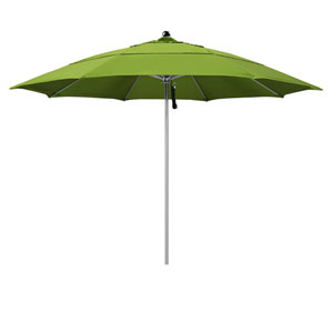 11 Foot Stainless Steel Single Pole Umbrella Double Vent Anodized/Sunbrella/Macaw