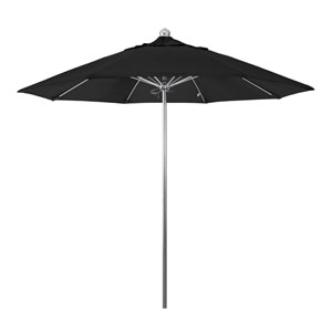 9 Foot Umbrella Stainless Steel Single Pole Fiber Glass Ribs Sv Anodized/Olefin/Black