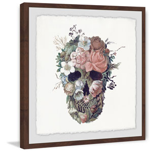 Floral Skull II 12 x 12 In. Framed Painting Print