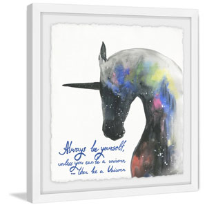 Always Be Yourself 24 x 24 In. Framed Painting Print