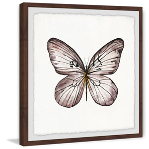 Black and White Wings 12 x 12 In. Framed Painting Print