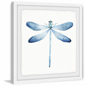 Pastel Blue Dragonfly 18 x 18 In. Framed Painting Print