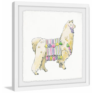 Regal Alpaca 24 x 24 In. Framed Painting Print