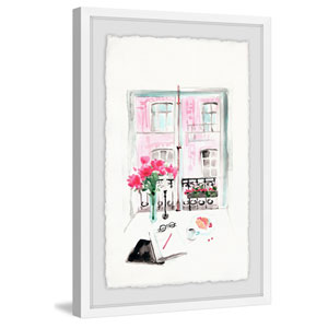 Window View 60 x 40 In. Framed Painting Print