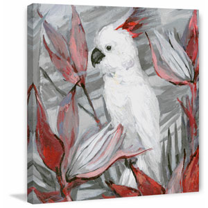 White Cockatoo II 18 x 18 In. Painting Print on Wrapped Canvas