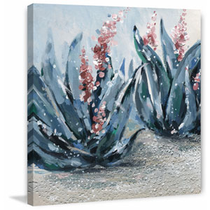 Bluish Pink 18 x 18 In. Painting Print on Wrapped Canvas