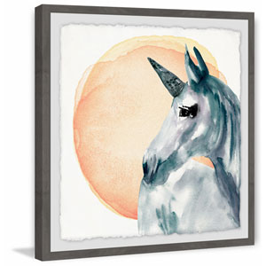 Unicorn Sunrise 12 x 12 In. Framed Painting Print