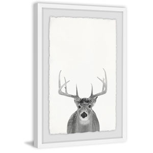 Grey Deer 45 x 30 In. Framed Painting Print