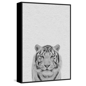 Tamed Tiger III Floater 18 x 12 In. Framed Painting Print on Canvas