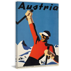 Ski Austria 60 x 40 In. Painting Print on Wrapped Canvas