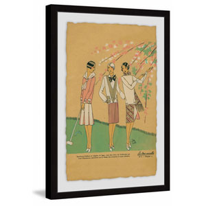 Croquet Anyone? 30 x 20 In. Framed Painting Print