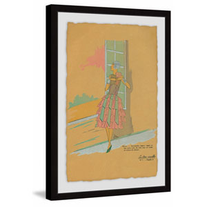 Gazing Out the Window 12 x 8 In. Framed Painting Print
