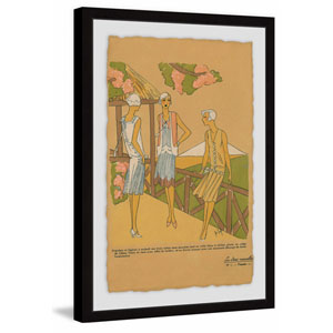 On the Terrace 60 x 40 In. Framed Painting Print