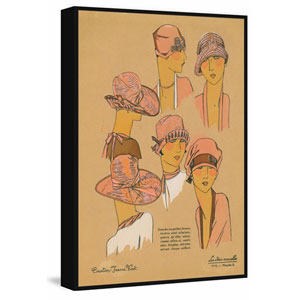 Pink Hats Floater 24 x 16 In. Framed Painting Print on Canvas