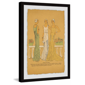 Evening Gowns 30 x 20 In. Framed Painting Print
