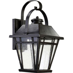 Fairland Black 18-Inch One-Light Outdoor Wall Sconce
