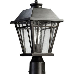 Fairland Black One-Light Outdoor Post Mount
