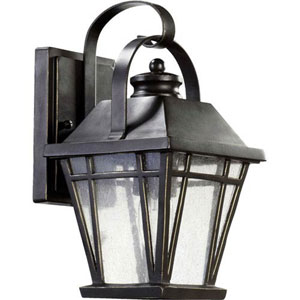 Fairland Black 12-Inch One-Light Outdoor Wall Sconce