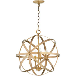 Seneca Aged Brass Four-Light Pendant