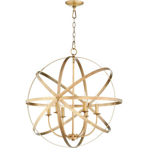 Seneca Aged Brass Six-Light Pendant
