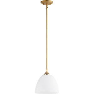 Harcourt Aged Brass One-Light Mini Pendant