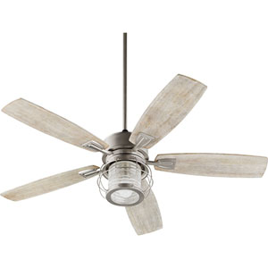 Vista Satin Nickel One-Light Fluorescent Ceiling Fan