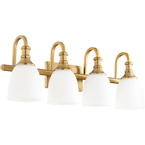 Milton Aged Brass Four-Light Bath Vanity