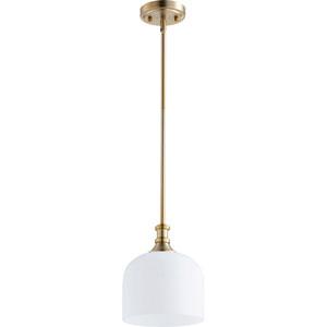 Milton Aged Brass One-Light Mini Pendant